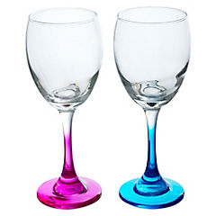 Set de copas pie vidrio 6 unidades