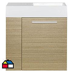 Mueble vanitorio 60x63x26 cm Café