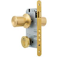 Cerradura de embutir con pomo 205 para puerta principal bronce