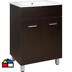 Mueble vanitorio 60x85x46 cm Wengue