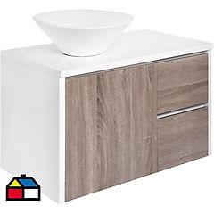 Mueble vanitorio 80x46x50 cm blanco