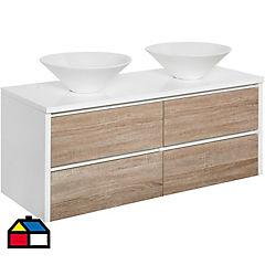 Mueble vanitorio 120x46x50 cm blanco