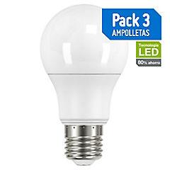 Pack de Ampolletas LED E-27 60 W Fría 3 unidades