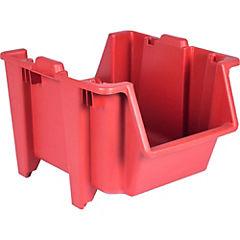 Contenedor para reciclaje y organización rojo 50x40 cm