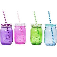 Set de jarras vidrio 14 cm 4 unidades