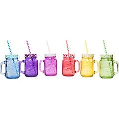 Set jarras 6 unidadescolores con mango
