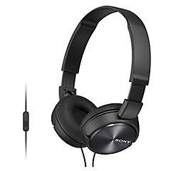 Audífonos casco plegable con micrófono negro MDR-ZX310AP B