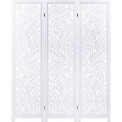 Separador de ambientes madera 170x135 cm blanco