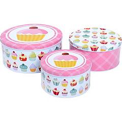 Set de latas para cupcakes hojalata 3 unidades