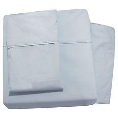 Juego de sábanas 220 hilos 2 plazas azul brisa