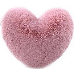 Cojín Corazón shaggy rosado 45 cm