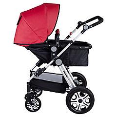 Coche para bebé 113x60x80 cm rojo