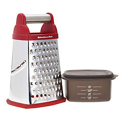 Rallador con contenedor rojo