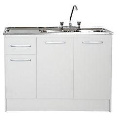 Kit mueble para lavaplatos 117,5x87x48,5 cm Blanco