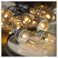 Guirnalda solar vasos 20 luces led