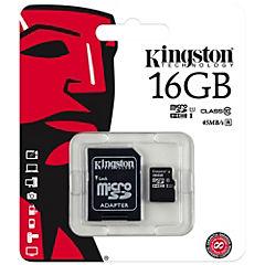 Micro SD 16 GB con adaptador CL10