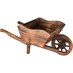 Macetero tipo carretilla de madera 34x72x28 cm