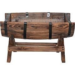 Jardinera ovalada de madera 40x25x24 cm