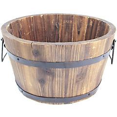 Macetero tipo barril de madera 46x23 cm