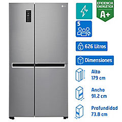 Refrigerador side by side 626 litros silver