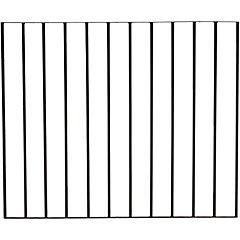 Protección metálica 121x100 cm negro
