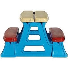 Mesa de picnic infantil 74x43x70 cm plástico