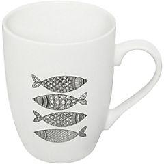 Mug Icono blanco negro 345 ml