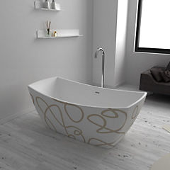 Tina Susan blanco matte 160x80x63 cm