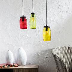 Lámpara colgante 120 cm 3 luces 40 W