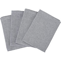 Set de 4 servilletas Charcoal