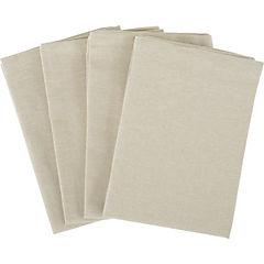 Set de 4 servilletas beige