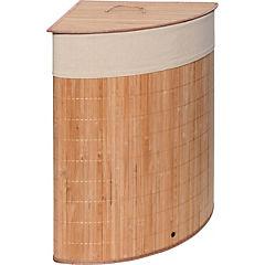 Hamper esquinero bamboo claro