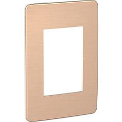 Placa modular  3 módulos -Blanco/Magma de cobre