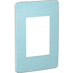 Placa 3 módulos Azul