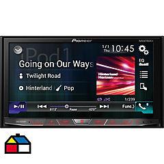 Radio con pantalla para auto negro