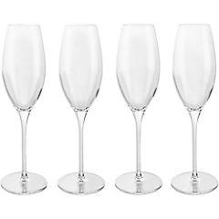 Set de copas flauta vidrio 237 ml 4 unidades