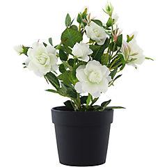 Planta artificial rosa mini 27 cm