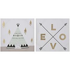 Set de canvas decorativos 50x50 cm 2 piezas