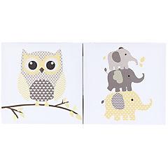 Set de canvas decorativos 27x27 cm 2 piezas