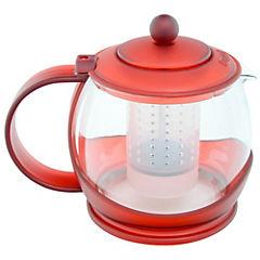 Tetera vidrio 1,2 litros rojo