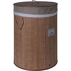 Cesto de ropa plegable redondo 40x40x57 cm beige