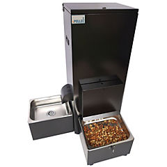 Dispensador automático de agua y comida para perro Negro
