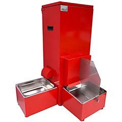 Dispensador automático de agua y comida para perro Rojo