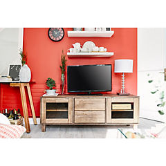 Rack de TV 55x155x42 cm walnut