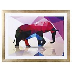 Cuadro 40x30 cm Elephant dorado