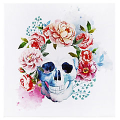 Canvas decorativo Flowerskull 60x60 cm