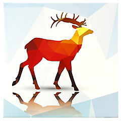 Canvas decorativo Poligonal Deer 70x70 cm