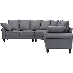 Seccional 86x246x246 cm gris