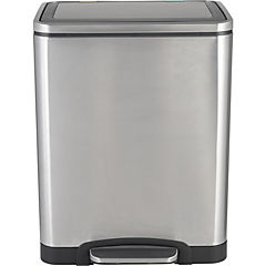 Basurero doble metálico para reciclaje 15 L+15 L
