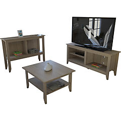 Rack+mesa centro arrimo essential oak
